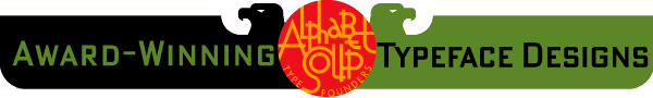 Award Winning Alphabet Soup Fonts